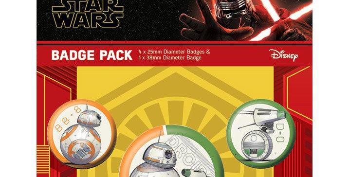 Set de 5 badges - BB-8 & D-0