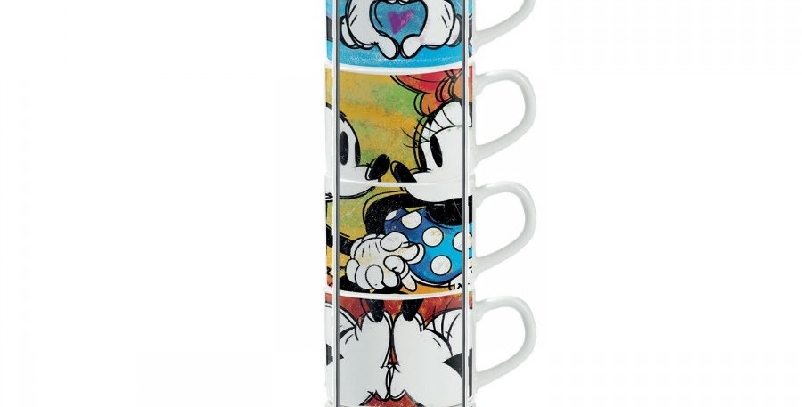 Set de 6 tasses à espresso - Mickey & Minnie