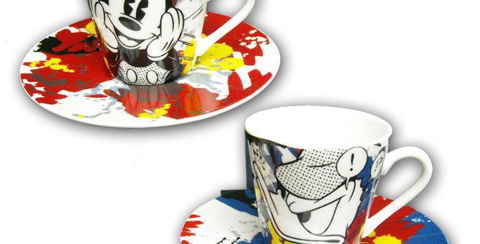 Set de 2 tasses à espresso et leur soucoupe
