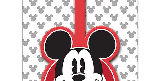Etiquette de bagage - Mickey