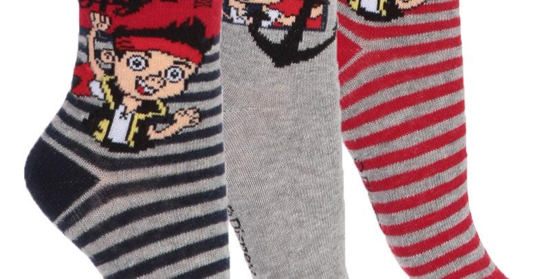 Set de 3 paires de chaussettes - Jake et les Pirates du Pays Imaginaire