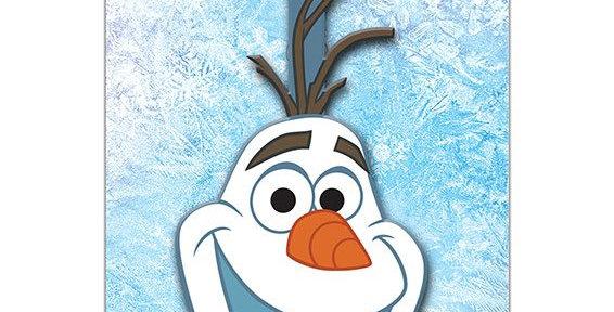 Etiquette de bagage - Olaf
