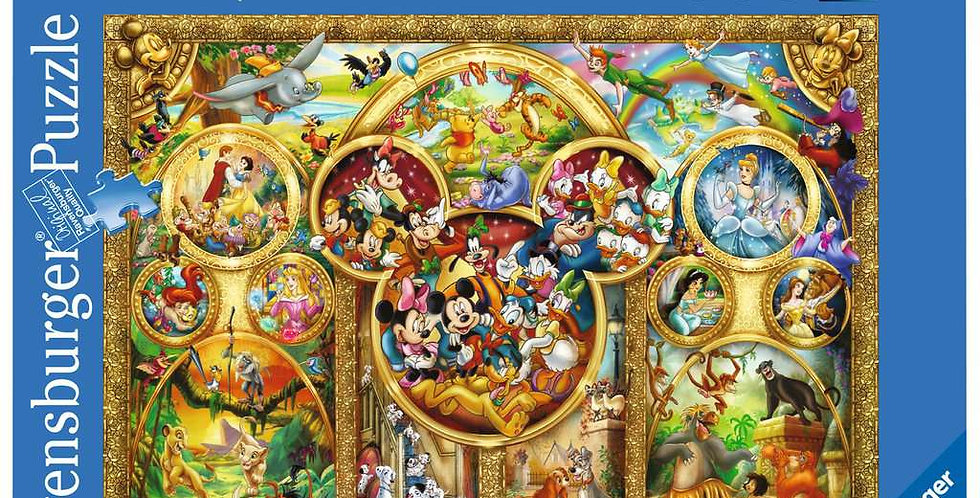 Puzzle 1000 pièces - Les plus beaux thèmes Disney