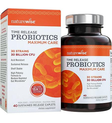 NatureWise, Time Release Probiotics, Maximum Care