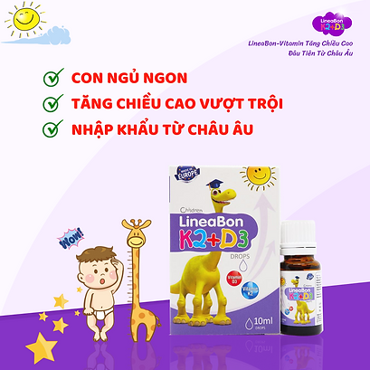 LINEABON VITAMIN D3 - MK7 TĂNG CHIỀU CAO
