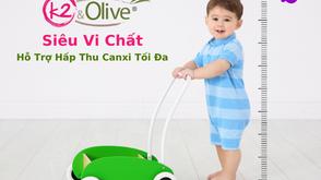 """Vì sao K2&Olive được gọi là """"siêu vi chất"""" hỗ trợ phát triển chiều cao tối đa cho trẻ?"""