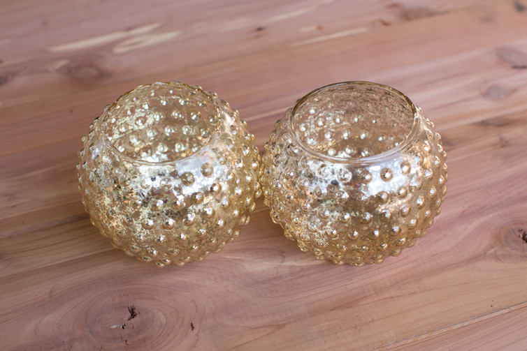 Gold Circular Votive Holders