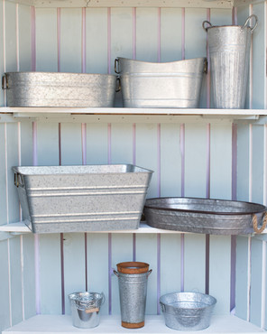 Assorted Tin Containers