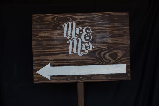 Mr. and Mrs. Wooden Sign