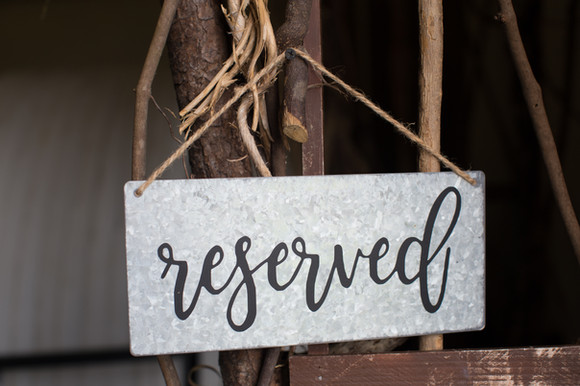 Reserved Metal Sign