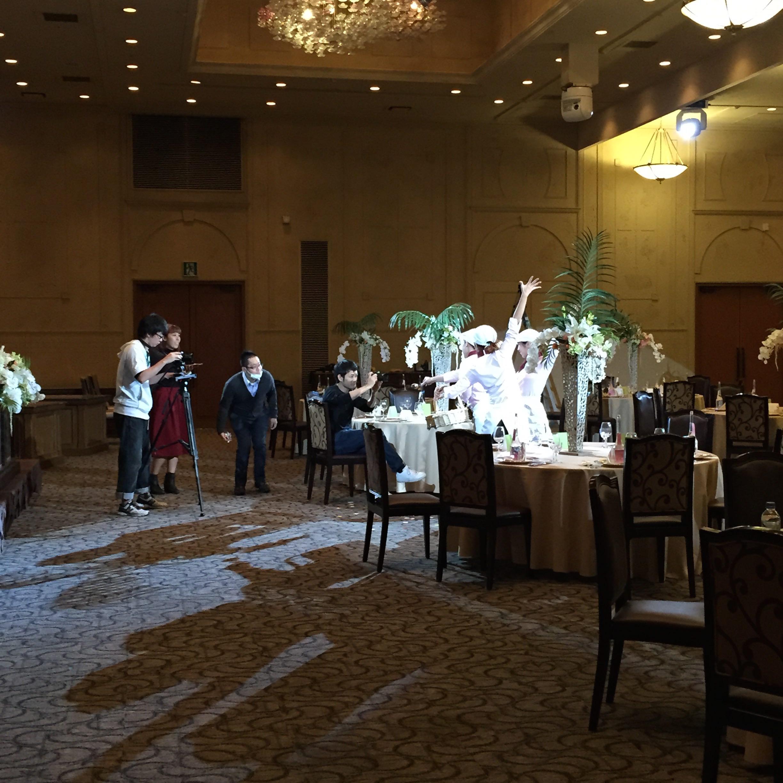 結婚式場のPV撮影の様子(2015年)
