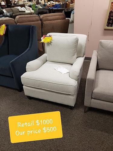 White Bassett Chair