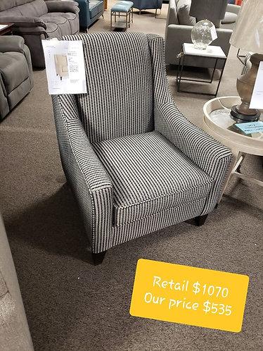 Black and white Bassett Chair