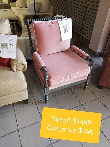 Bassett Pink Throne Chair