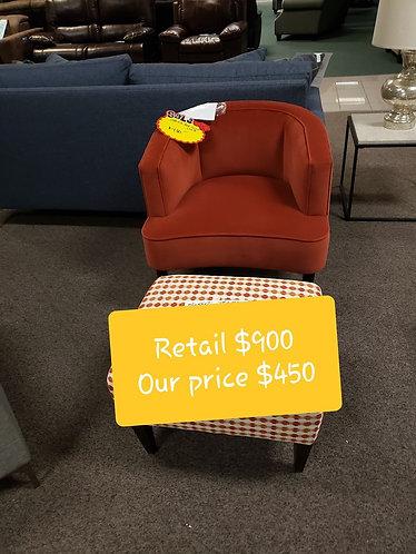 Orange Bassett Chair
