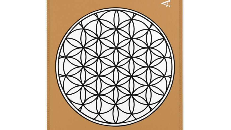 Flower of life - Meditation Rug (Brown)