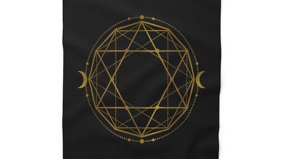 Geometry - Fleece Blanket (Black)