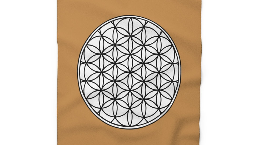 Flower of life - Fleece Blanket (Brown)