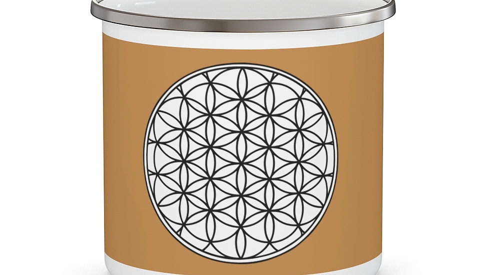 Flower of life - Enamel Campfire Mug