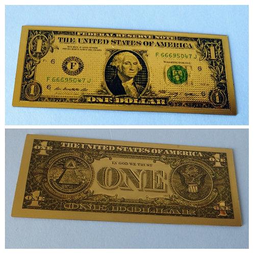 5 Billetes de Dólar