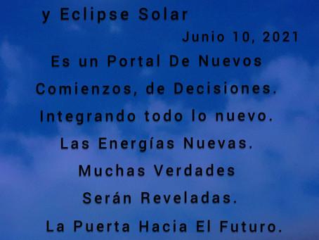 Luna Nueva y Eclipse Solar Junio 10, 2021
