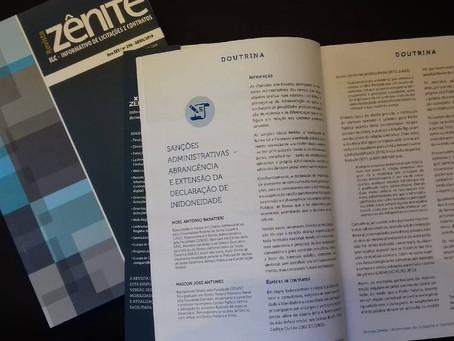 Advogados da Baratieri publicam artigo na Revista Zênite