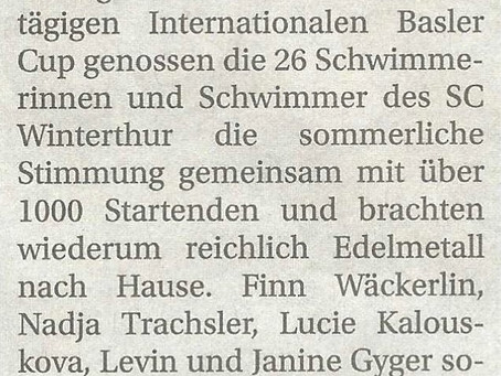 Int. Basler Cup: Beiträge in Winterthurer Zeitung (03.06.21) und Landbote (01.06.21)