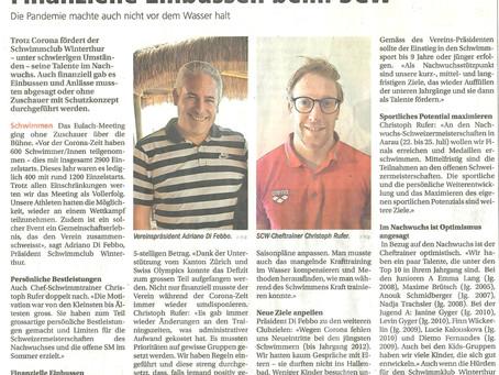 Finanzielle Einbussen beim SCW (Winterthurer Zeitung, 27.5.2021)