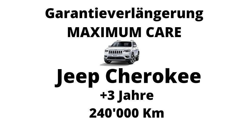 Jeep Cherokee Garantieverlängerung 3 Jahre 240'000 Km