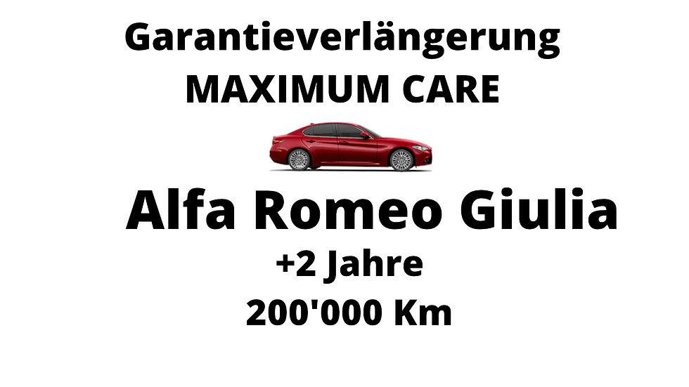 Alfa Romeo Giulia Garantieverlängerung 2 Jahre 200'000 Km