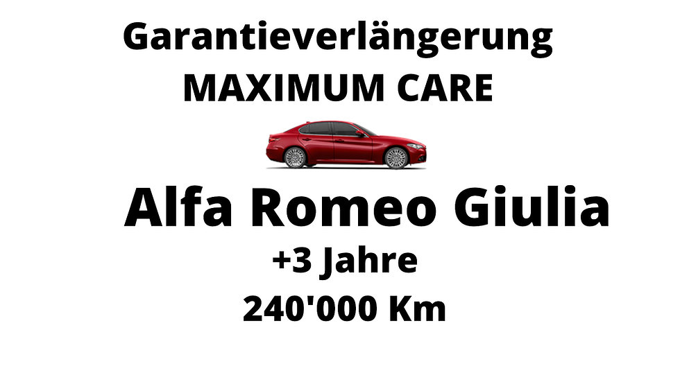 Alfa Romeo Giulia Garantieverlängerung 3 Jahre 240'000 Km
