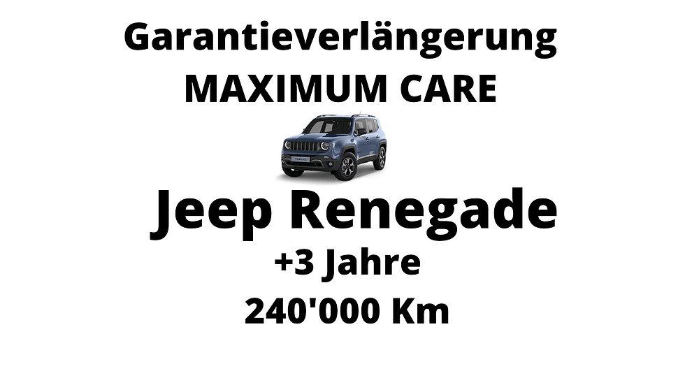 Jeep Renegade Garantieverlängerung 3 Jahre 240'000 Km
