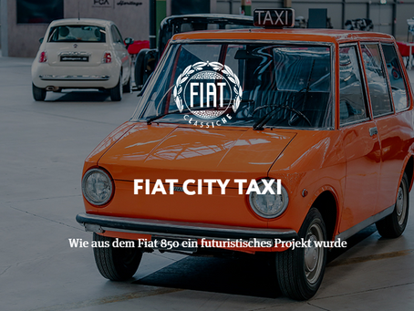 FIAT CITY TAXI - Wie aus dem Fiat 850 ein futuristisches Projekt wurde