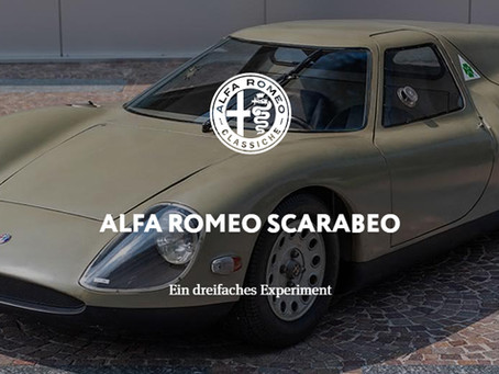 ALFA ROMEO SCARABEO - Ein dreifaches Experiment