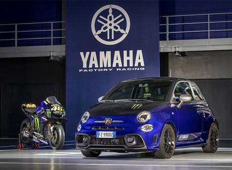 Abarth 595 Scorpioneoro und Abarth 595 Monster Energy Yamaha, die zwei Seelen der Marke Abarth