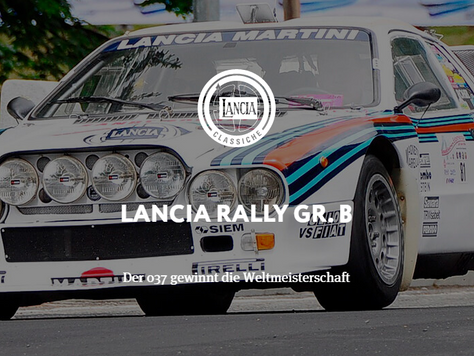 Lancia Rally GR. B - Der 037 gewinnt die Weltmeisterschaft