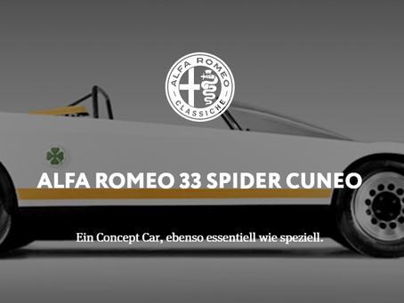 ALFA ROMEO 33 SPIDER CUNEO - Ein Concept Car, ebenso essentiell wie speziell.
