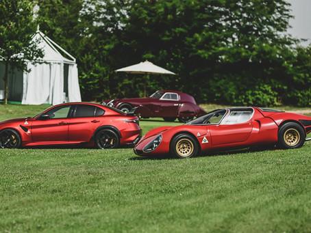 Alfa Romeo der Vergangenheit und Gegenwart auf dem REB Concours in Rom