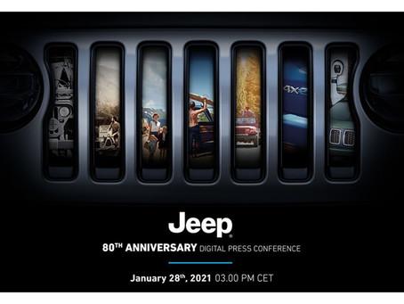 Merken Sie sich den Termin vor: Jeep® 80th Anniversary Digital Press Conference