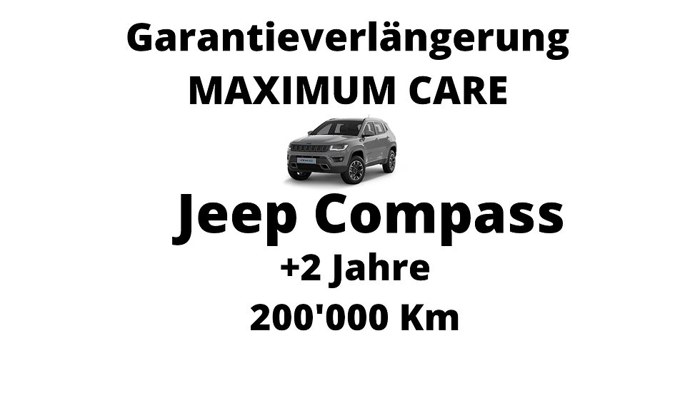 Jeep Compass Garantieverlängerung 2 Jahre 200'000 Km