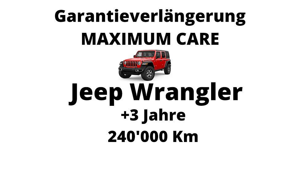 Jeep Wrangler Garantieverlängerung 3 Jahre 240'000 Km