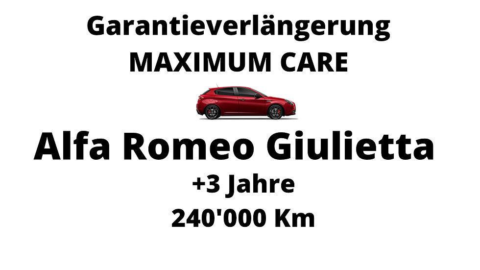 Alfa Romeo Giulietta Garantieverlängerung 3 Jahre 240'000 Km