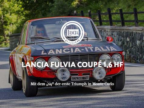"""LANCIA FULVIA COUPÉ 1,6 HF - Mit dem """"14"""" der erste Triumph in Monte Carlo"""
