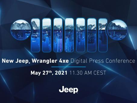 Save the date: Pressekonferenz zum neuen Jeep® Wrangler 4xe Digital