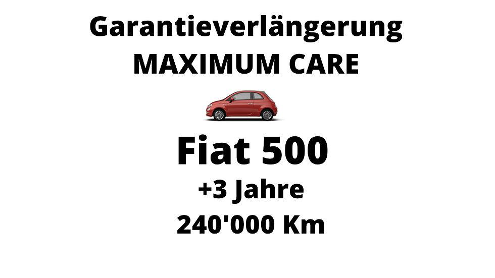 Fiat 500 Garantieverlängerung 3 Jahre 240'000 Km