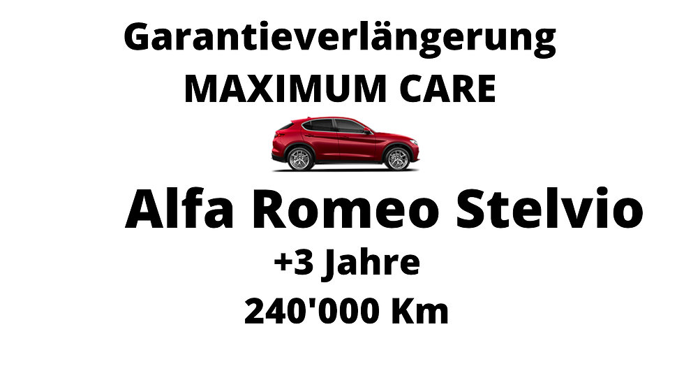 Alfa Romeo Stelvio  Garantieverlängerung 3 Jahre 240'000 Km