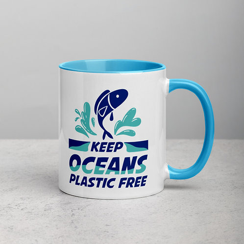 01 Keep The Oceans Plastic Free Mug for Women & Men - Save Water life