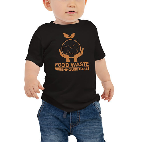 Food waste = greenhouse gasses earth Baby tshirt - Zero Waste collection 08