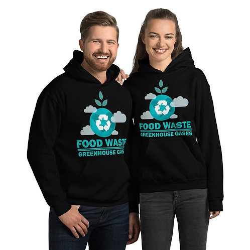 Food waste = Greenhouse gases Hoodie for Women & Men - Food Waste collection 03