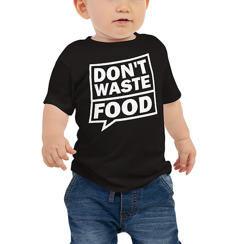 Don't waste food bubble baby tshirt - Zero Waste collection 09